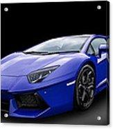 Blue Aventador Acrylic Print