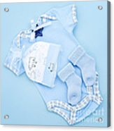 Blue Baby Clothes For Infant Boy Acrylic Print