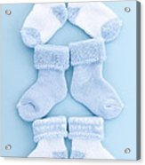 Blue Baby Socks Acrylic Print by Elena Elisseeva
