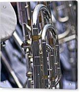 Blue Band Brass Acrylic Print