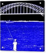 Blue Bay Bridge Acrylic Print