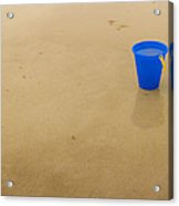 Blue Beach Bucket Acrylic Print