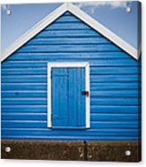 Blue Beach Hut Acrylic Print