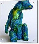 Blue Bear Acrylic Print by Derrick Higgins