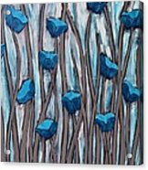 Blue Bells Acrylic Print by Holly Donohoe