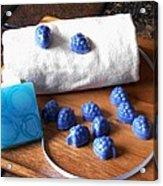 Blue Berries Mini Soaps Acrylic Print