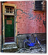 Blue Bicycle Monterosso Italy Dsc02592  Acrylic Print