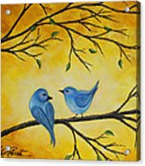 Blue Birds Acrylic Print