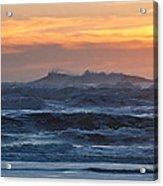 Blue Black Tide At Sunset Acrylic Print