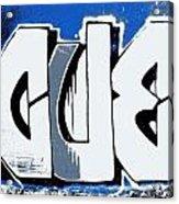Blue Blood Buds Acrylic Print