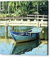 Blue Boat 02 Acrylic Print
