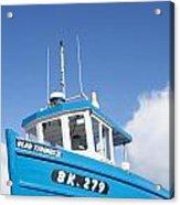 Blue Boat Blue Sky Acrylic Print