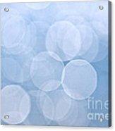 Blue Bokeh Background Acrylic Print by Elena Elisseeva