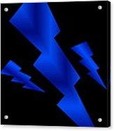 Blue Bolts Acrylic Print