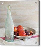 Blue Bottle And Fresh Fruit Acrylic Print
