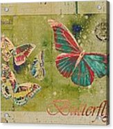 Blue Butterfly Etc - S55ct01 Acrylic Print