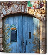 Blue Cafe Doors Acrylic Print