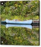 Blue Canoe Acrylic Print