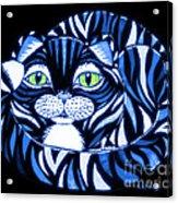Blue Cat Green Eyes Acrylic Print