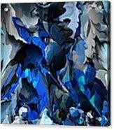 Blue Chaos Acrylic Print