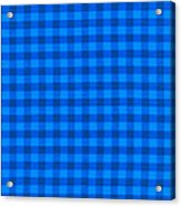 Blue Checkered Tablecloth Fabric Background Acrylic Print