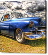 Blue Chevy Deluxe - Hdr Acrylic Print by Phil 'motography' Clark