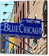 Blue Chicago Club Acrylic Print