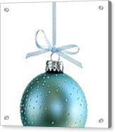 Blue Christmas Ornament Acrylic Print by Elena Elisseeva