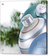 Blue Christmas Ornaments Acrylic Print