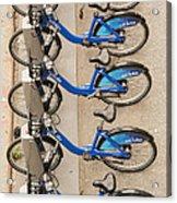 Blue City Bikes Acrylic Print