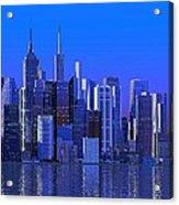Chicago Blue City Acrylic Print