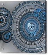 Blue Clockwork Machine Acrylic Print