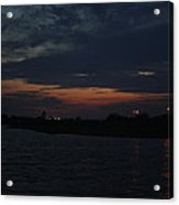 Blue Clouds At Night Over Long Island Acrylic Print