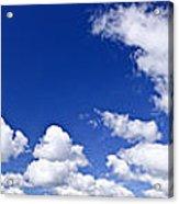 Blue Cloudy Sky Panorama Acrylic Print