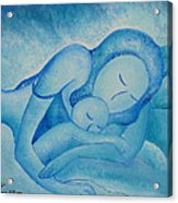 Blue Co Sleeping Acrylic Print