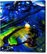 Blue Crystal Acrylic Print