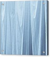 Blue Curtain Acrylic Print