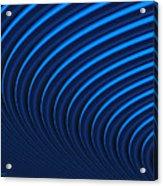 Blue Curves Acrylic Print