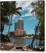 Blue Diamond Condos Miami Beach Acrylic Print
