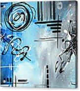Blue Divinity By Madart Acrylic Print