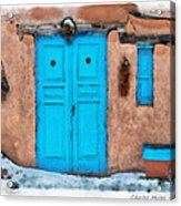 Blue Door Acrylic Print