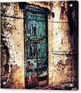 Blue Door Acrylic Print by H Hoffman