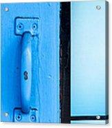 Blue Door Handle Acrylic Print