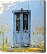 Blue Door In Shade Acrylic Print