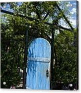 Blue Door To Childrens Garden Huntington Library Acrylic Print