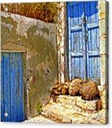 Blue Doors Of Santorini Acrylic Print