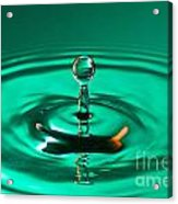 Blue Droplet Splashing Acrylic Print