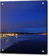 Blue Dusk - Freezing River Acrylic Print
