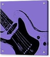 Blue Electric Guitar Acrylic Print