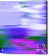 Blue Evening Mist Acrylic Print